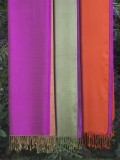 Silk scarves by colour