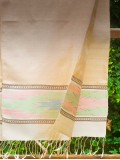 Cream silk scarves