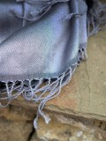 Grey silk scarves