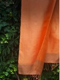 Orange silk scarves