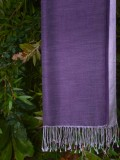 Purple silk scarves
